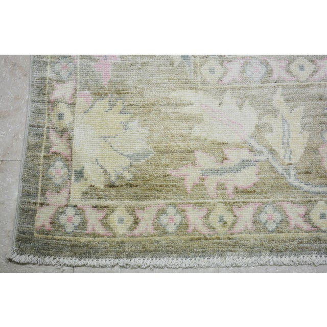 """Turkish Hand Woven Angora Oushak Rug With Allover Design and Silky Soft Texture,9'10""""x13'6"""" For Sale - Image 4 of 5"""