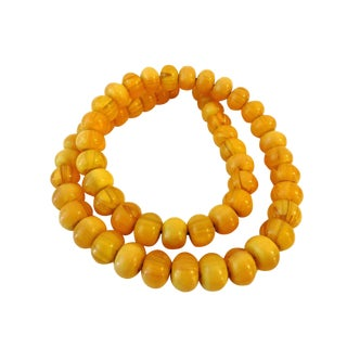 Superb 56 African Moroccan Currency Amber Beads For Sale