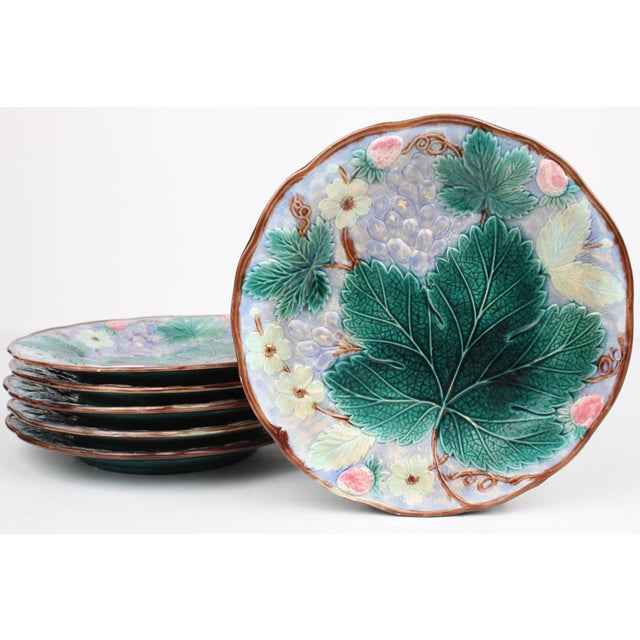 19th Century Majolica Dessert Plates - Set of 6 - Image 2 of 4