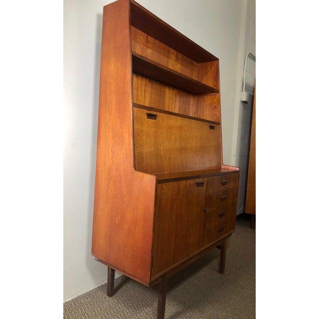 Mid Century Teak Secretary Desk by Turnidge of London For Sale - Image 11 of 13