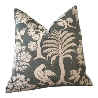 Schumacher Woodland Silhouette Pillow Cover 18x18 For Sale
