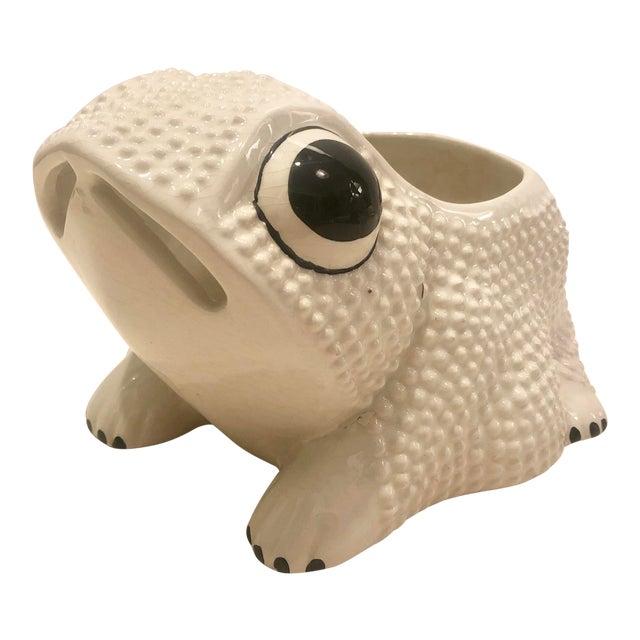 Italian Ceramic Frog Planter For Sale