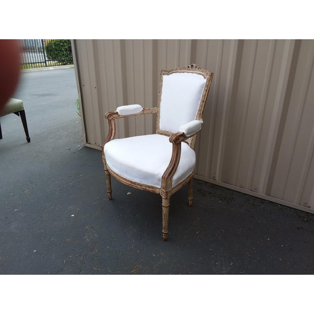 Mid 18th Century 18th Century French Antique Armchair For Sale - Image 5 of 8