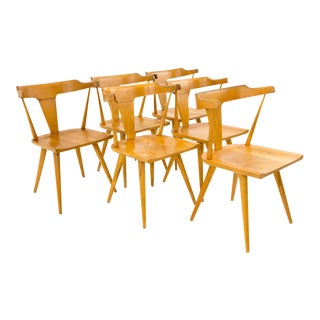 Vintage Mid-Century Paul McCobb for Planner Group Blonde Wood Dining Chairs - Set of 6 For Sale