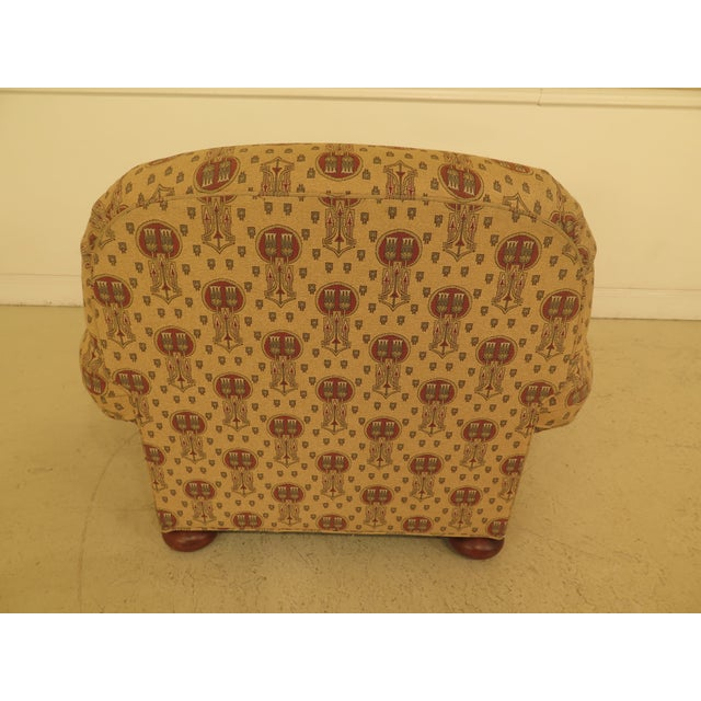 Brown Stickley Native American Print Upholstered Club Chair For Sale - Image 8 of 11