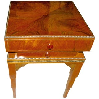 Art Deco Stepped Table With Storage and Drawers For Sale