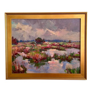 """""""Clouds Breaking"""" Landscape Oil Painting by James P. Kerr For Sale"""