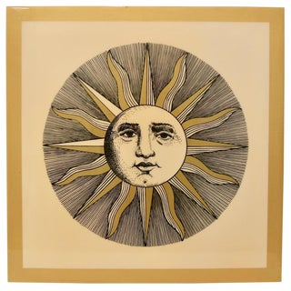 Piero Fornasetti Soli E Lune Lacquered Silkscreen Over Wood C.1970s For Sale