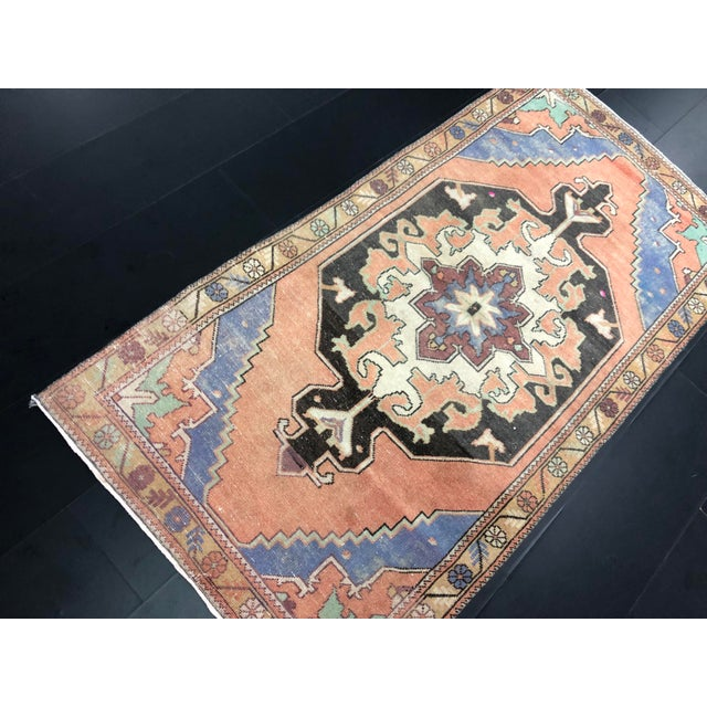 """1960's Vintage Turkish Anatolian Rug-3'11'x7'9"""" For Sale In Phoenix - Image 6 of 11"""