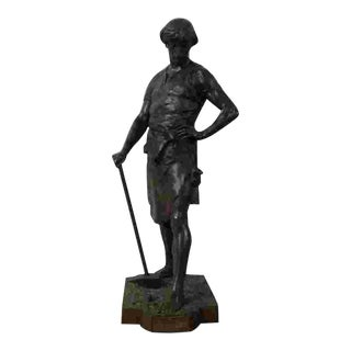 Large 19th Century French Bronze by Emile Louis Picault For Sale