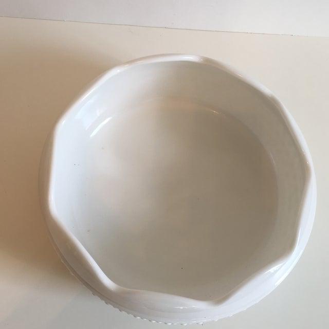 Cottage Vintage Hobnail Milk Glass Bowl For Sale - Image 3 of 7