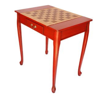 20th Century Americana Game Table with Gameboard Pieces