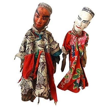 Folk Art Theater Opera Doll Puppets - A Pair - Image 1 of 6