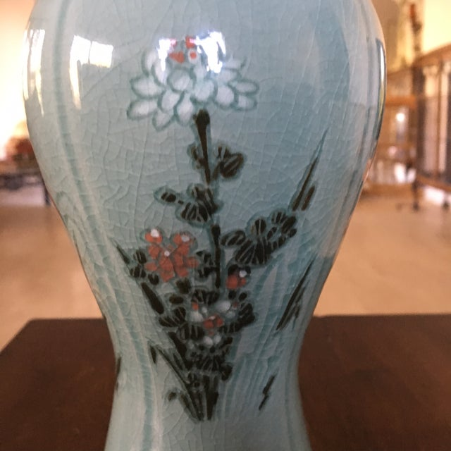 Korean Celadon 'Four Seasons' Mae Byeong Vase Signed by Ko Chung - Image 8 of 11