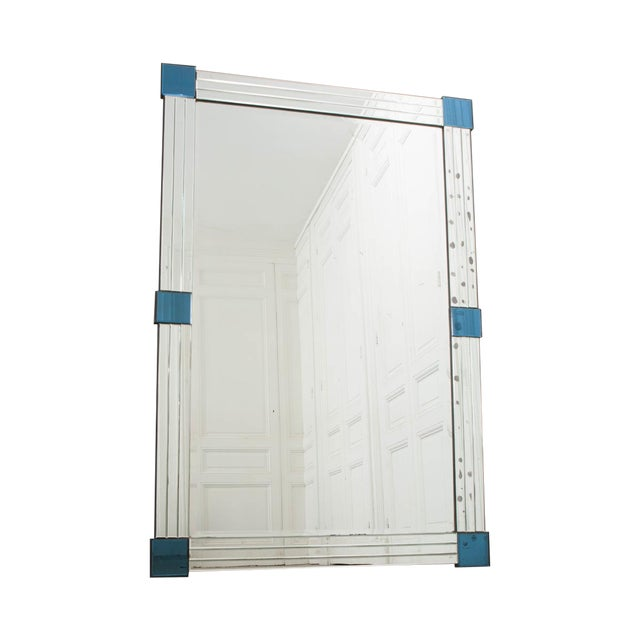French 20th Century Art Deco Beveled Mirror For Sale
