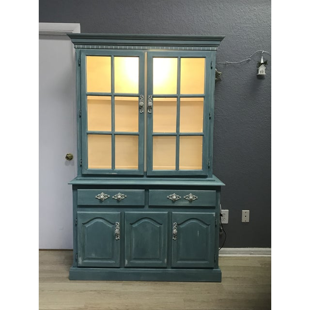 """Blue French Provincial """"Annabel"""" China Cabinet - Image 3 of 11"""