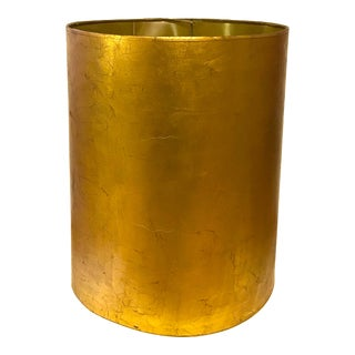 1940s Gold Gilt Vintage Metallic Lampshade For Sale