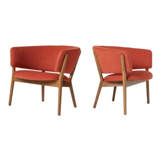 Pair of Nanna Ditzel Model #83 Lounge Chairs for Soren Willadsen, Ca. 1952 For Sale