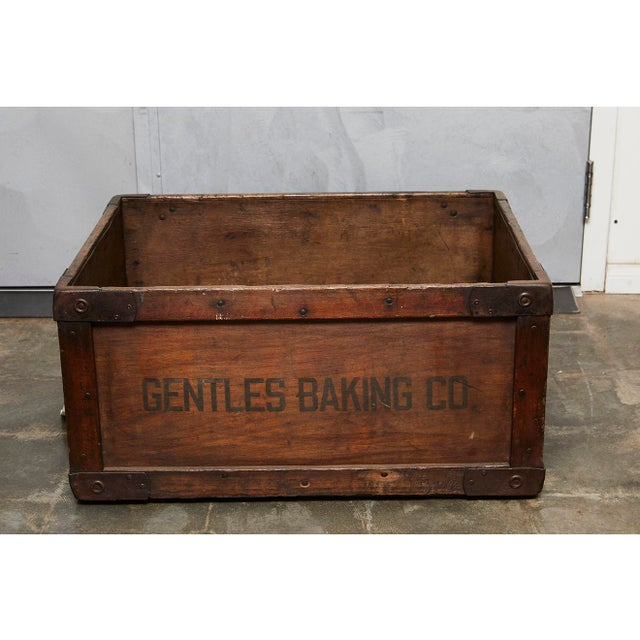 This early 20th century bread delivery box is well suited for a variety of display and storage purposes in a home or a...