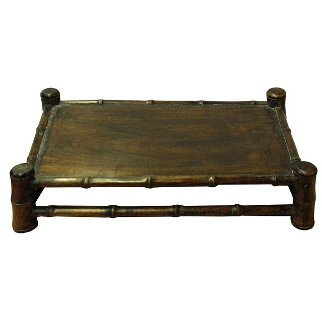 Chinese Brown Wood Carved Rectangular Table Top Stand Display Easel For Sale In San Francisco - Image 6 of 8