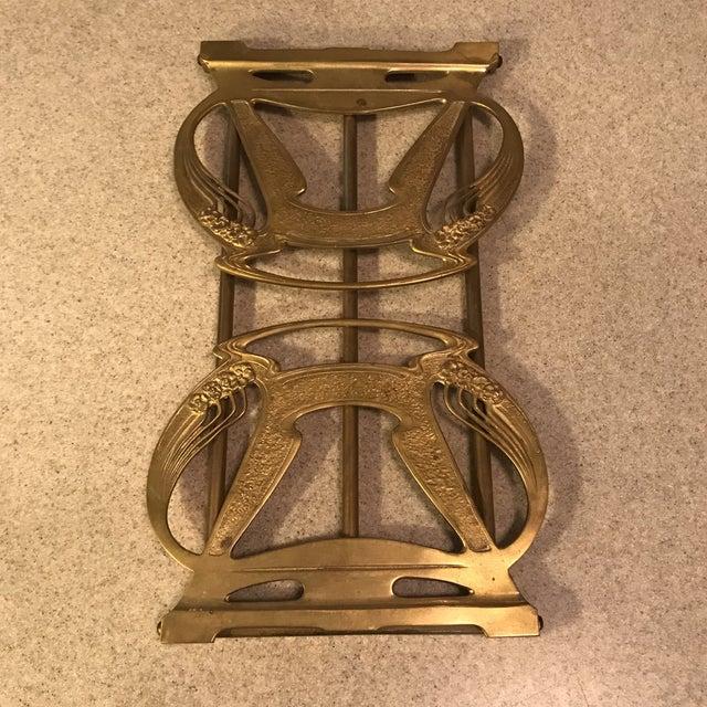 1920s Art Nouveau Brass Expandable Book Rack - Image 6 of 10
