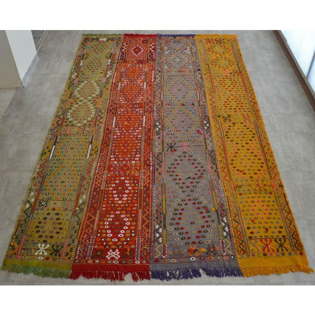 Antique Hand-Woven Turkish Rug Rare Fantastic Piece- 7′ X 11′2″ For Sale - Image 11 of 11