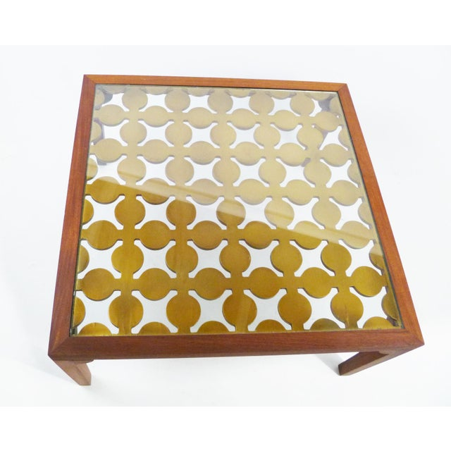 Parzinger Style Classy 50's Mahogany & Giltwood Grille Coffee Table - Image 2 of 13