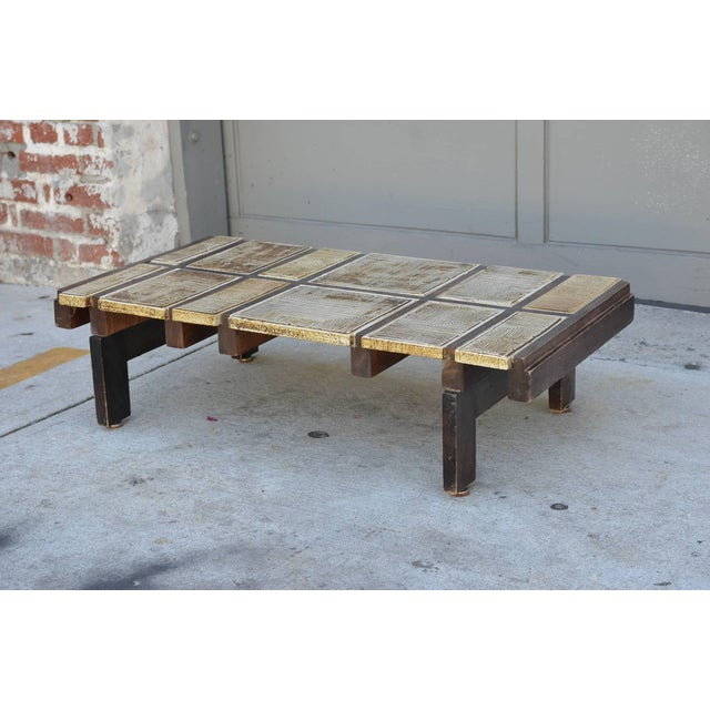 Modern Rare Signed Ceramic Coffee Table by Roger Capron For Sale - Image 3 of 8