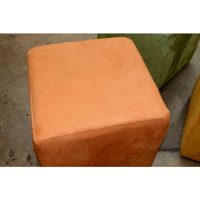 Contemporary German Himolla Cube Ottomans - Set of 3 For Sale - Image 3 of 9