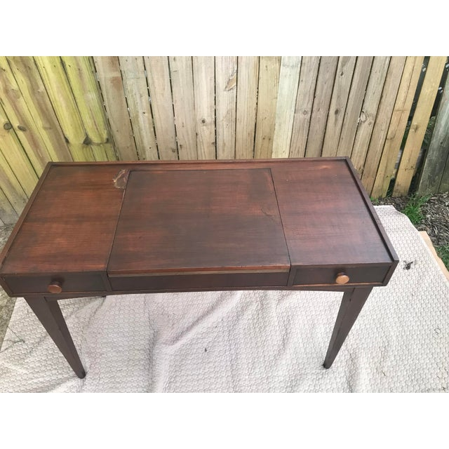 Mid-Century Modern Danish Mid Century Modern Teak Vanity Desk/Table For Sale - Image 3 of 8