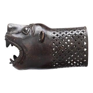 Bronze Palanquin Leopard Finial For Sale