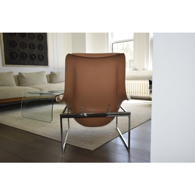 B&B Italia B&b Italia Leather Mart Chair For Sale - Image 4 of 12