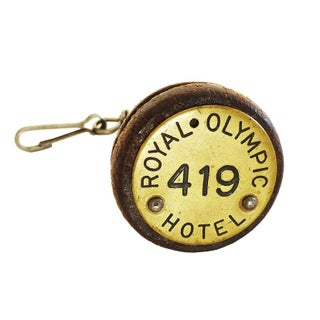 Vintage Royal Olympic Hotel Keychain For Sale