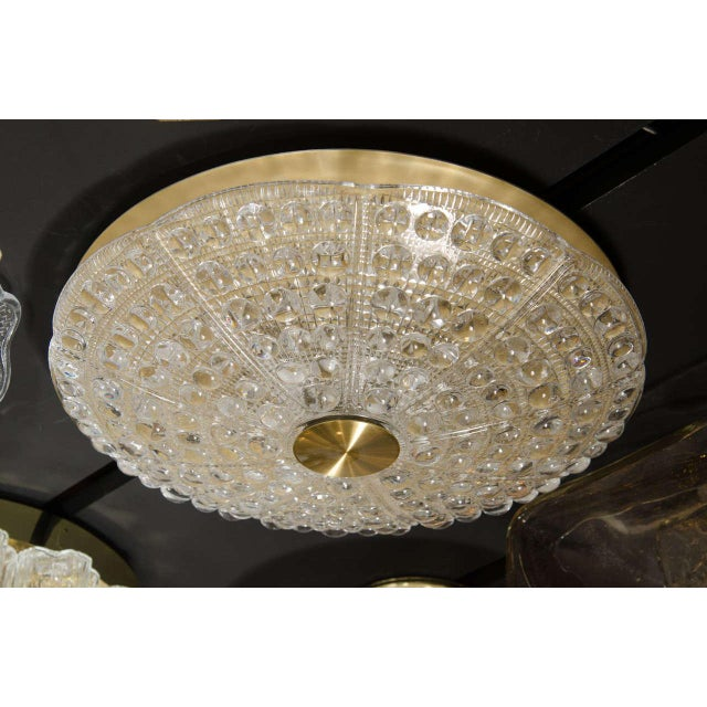 Mid-Century Modernist Flush Mount Chandelier by Carl Fagerlund for Orrefors For Sale In New York - Image 6 of 7