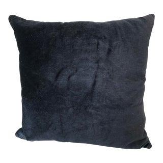 Navy Blue Mohair Pillow For Sale