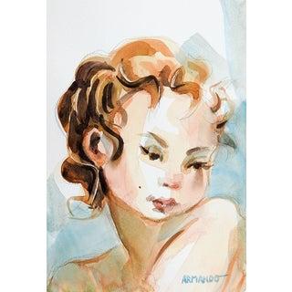 Watercolor Portrait Painting For Sale