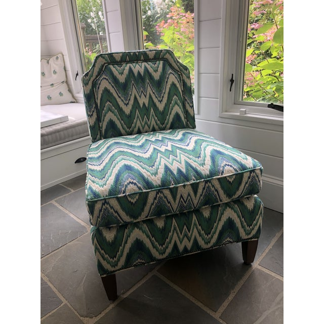 Wood Custom Highland House Luc Slipper Chair For Sale - Image 7 of 9