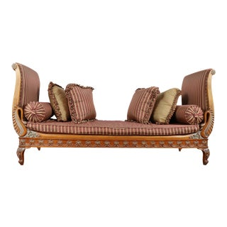Swan Carved Chaise Lounge