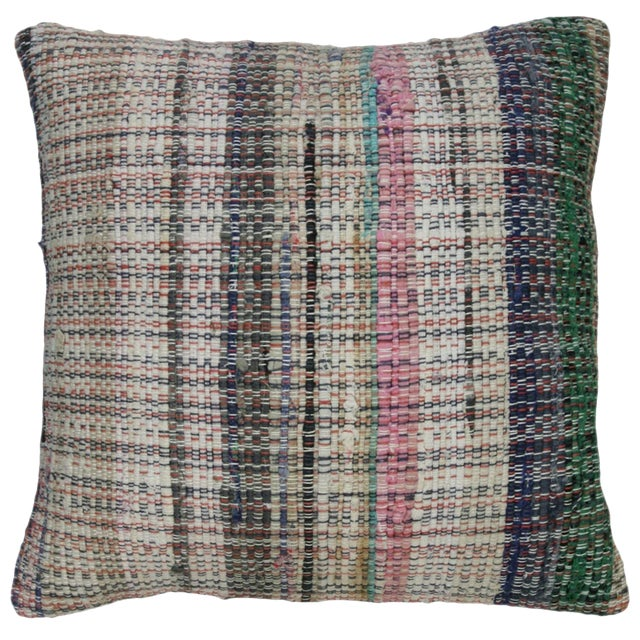 "Rug & Relic Cotton Kilim Pillow | 16"" - Image 1 of 2"