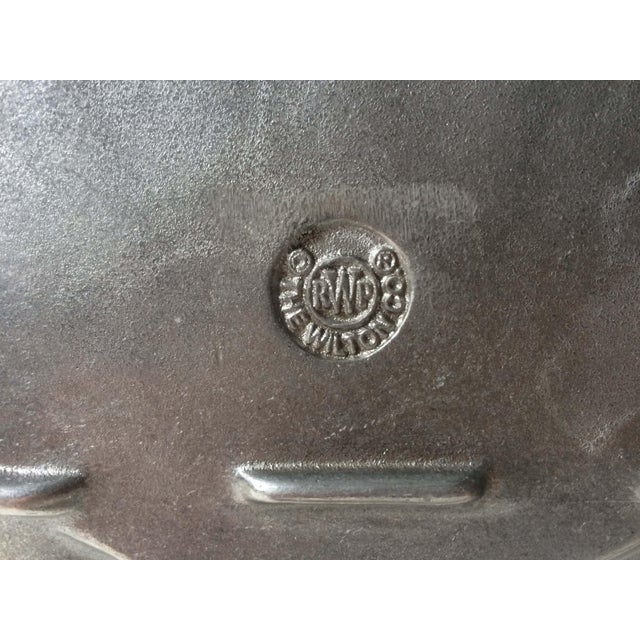 Wilton Pewter Shell Shaped Silver Serving Platter or Tray For Sale In Orlando - Image 6 of 7