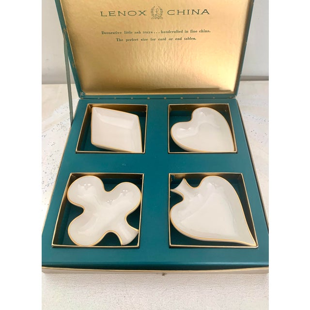 For lovers of cards: This vintage Lenox small plate / ashtray set is the perfect way to serve condiments or small bites in...