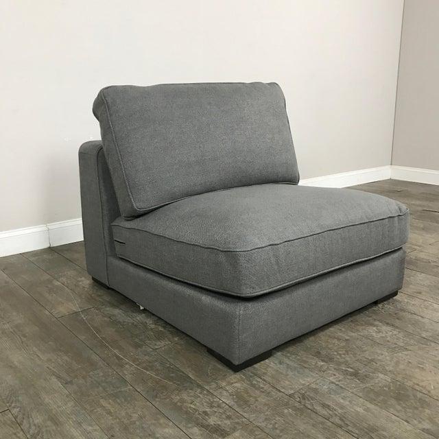 Gray Modern Armless Club Chair - Image 9 of 11