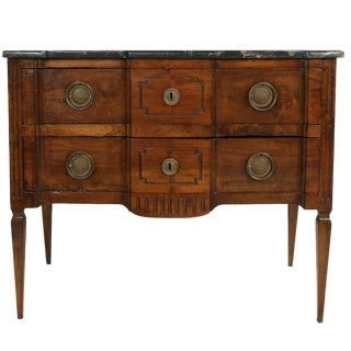 18th Century Northern Italian Louis XVI Chest With Marble Top For Sale