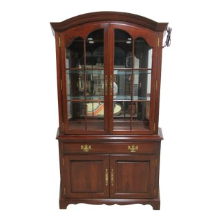 Pennsylvania House Cherry Petite China Cabinet For Sale