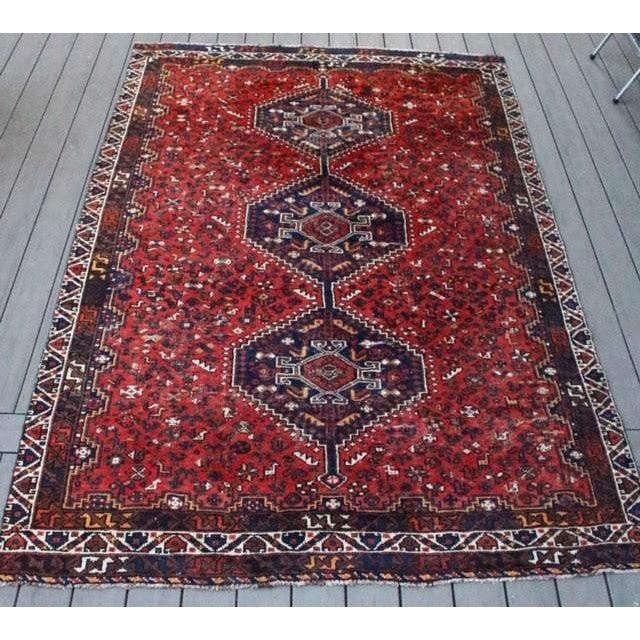 "Vintage Persian Shiraz Rug - 6' X 9'2"" - Image 2 of 9"