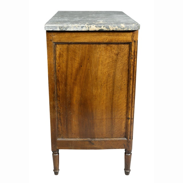 Metal Louis XVI Provincial Walnut Commode For Sale - Image 7 of 10