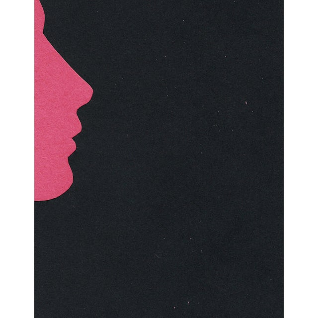 "2020s ""Profile 4 - Pink"" Minimalist Collage by Sarah Myers For Sale - Image 5 of 8"