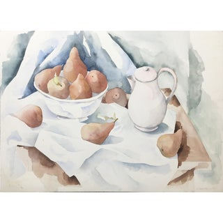 Modernist Still Life With Kettle by Robin Gregory, 1987 For Sale