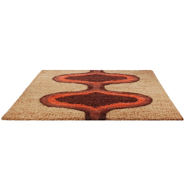 Contemporary Danish Modern Style Shag Rug - 8′2″ × 10′2″ For Sale - Image 3 of 6