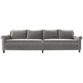 Edward Wormley for Dunbar Model 580 Velvet Sofa For Sale